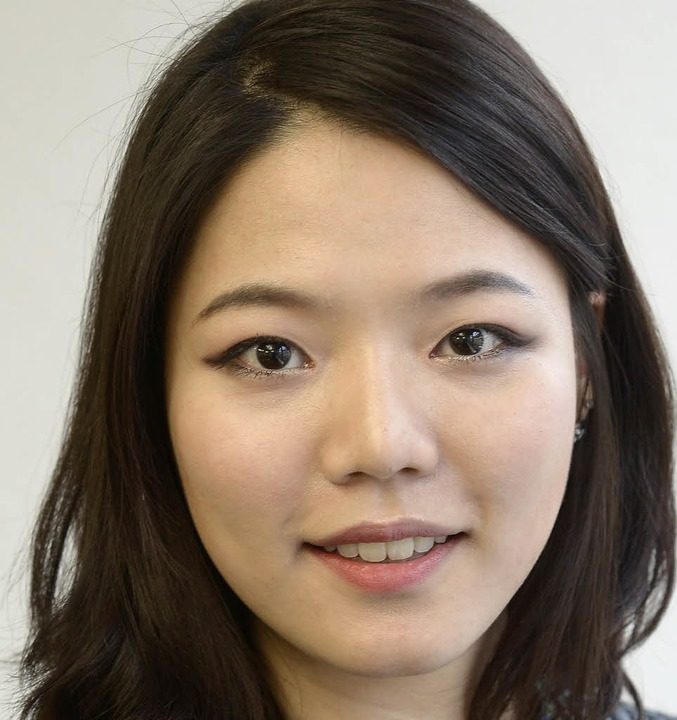 """Ahnam Kim, 22: """"Ich besuche scho...erdeutsch gefällt mir sehr gut.""""    Foto: Ingo Schneider"""