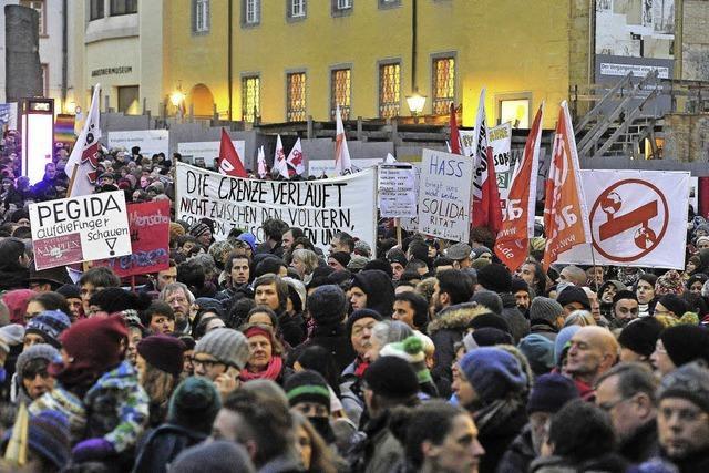 20 000 bei Demo gegen Pegida in Freiburg