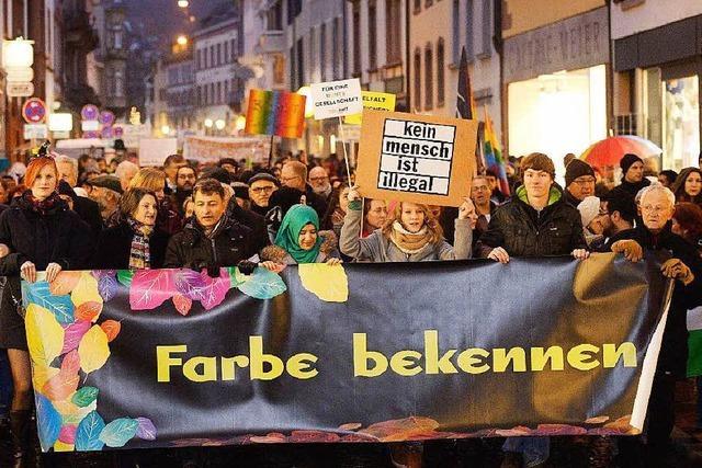 Nein zu Pegida: In Freiburg demonstrieren 20.000 für Toleranz