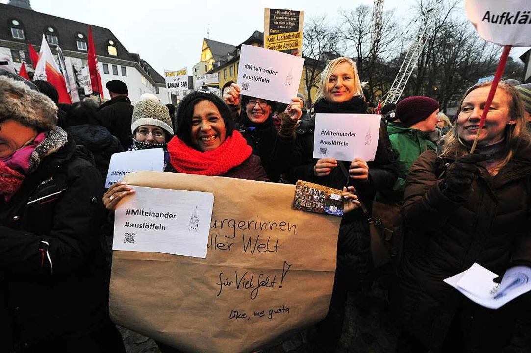 Klares Zeichen gegen Intoleranz: Die T...a-Demo zeigten Vielfalt statt Einfalt.  | Foto: Thomas Kunz