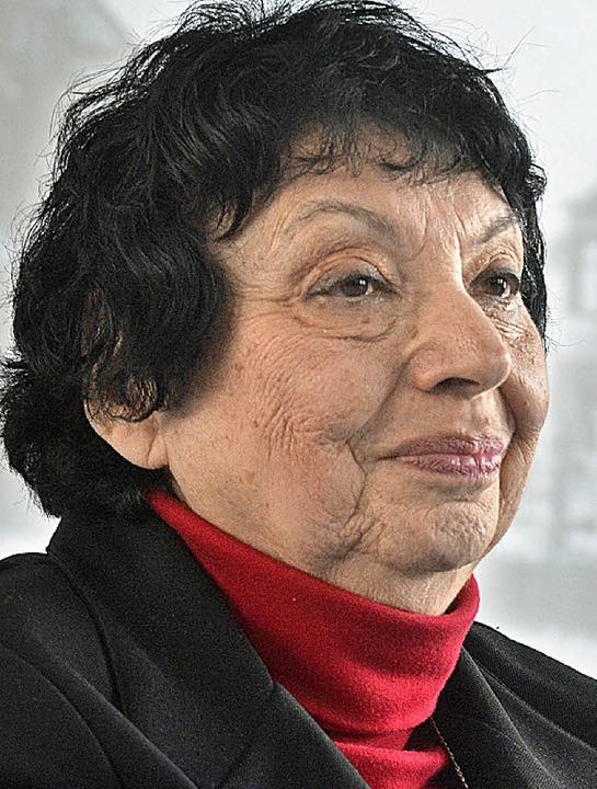 Die Kippenheimer Zeitzeugin Inge Auerbacher   | Foto: Archiv: M. Bamberger