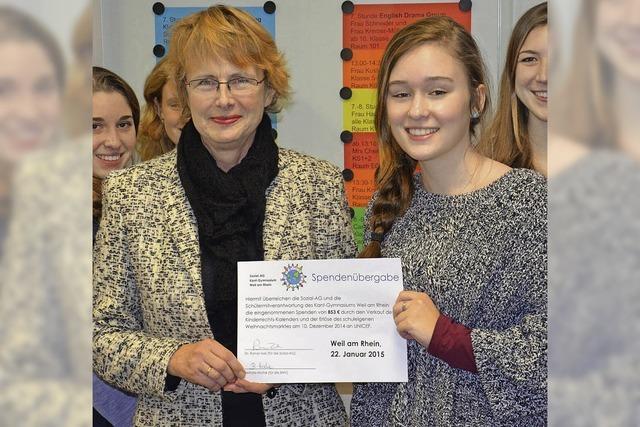Kant-Schüler sammeln Spenden für Unicef
