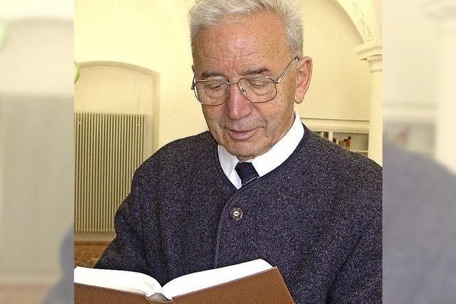 Pater Peter Leutenstorfer im Dom-Hotel in St. Blasien