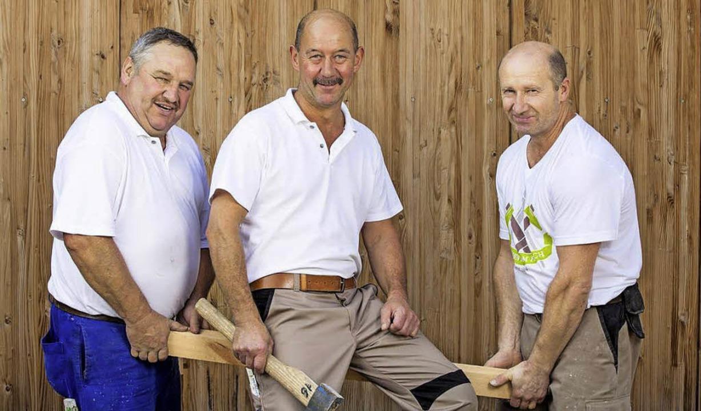 Sie feiern Jubiläum: Richard Nann, Edmund Reichert, Artur Fait  (von links)  | Foto: privat