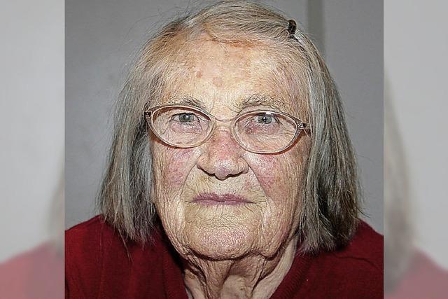 Bis 75 hat sie noch gearbeitet