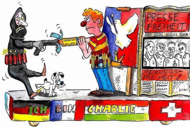 Kölner Karnevalisten ziehen Charlie-Hebdo-Wagen zurück