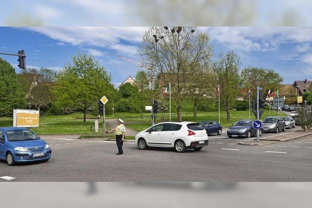 Kreisverkehr wird ohne Vollsperrung gebaut