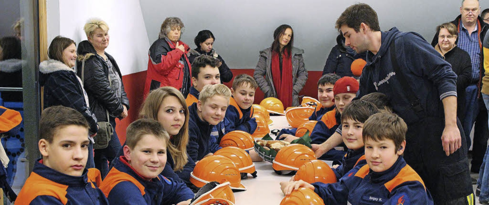 Die Floriansjünger in ihrem neuen Gruppenraum  | Foto: Otmar Faller