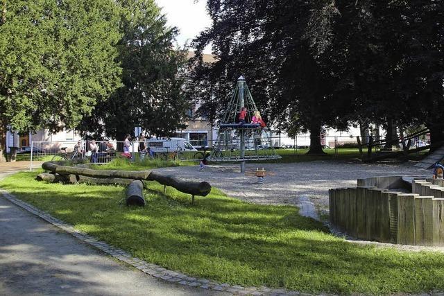 Weniger Parkplätze am Franz-Volk-Park