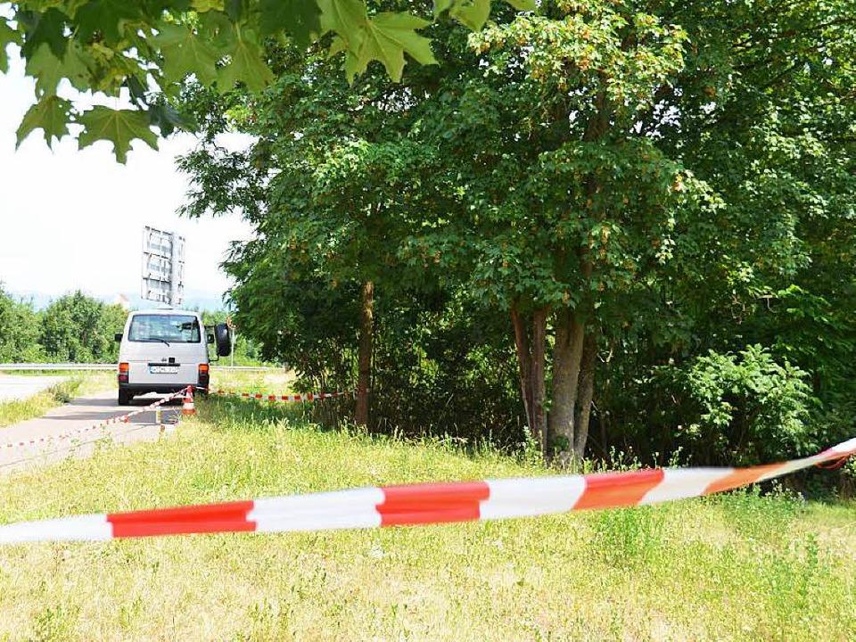 Der Tatort: Der Pendlerparkplatz an de...g an der deutsch-französischen Grenze.  | Foto: Gabriele Babeck-Reinsch