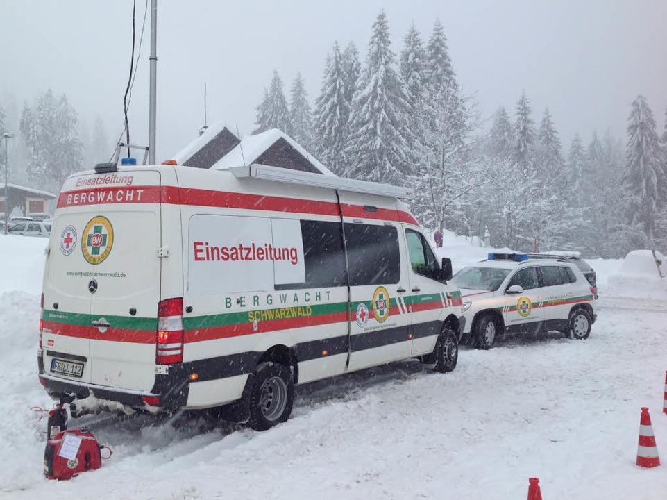Helfer der Bergwacht am Feldberg  | Foto: Max Schuler