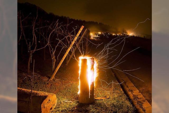 Rebberg in Flammen in Britzingen