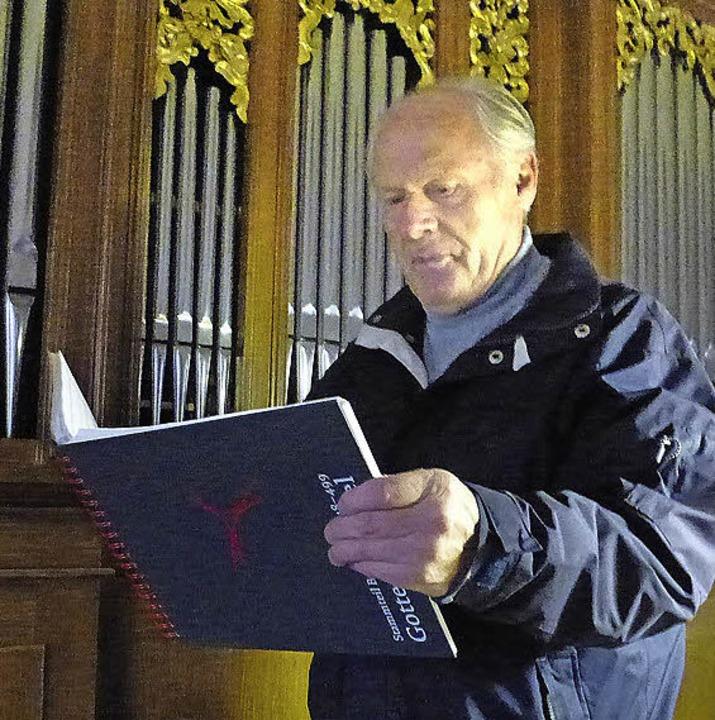 Franz Gromann aus Göschweiler ist Organist in Bachheim.  | Foto: Karla Scherer