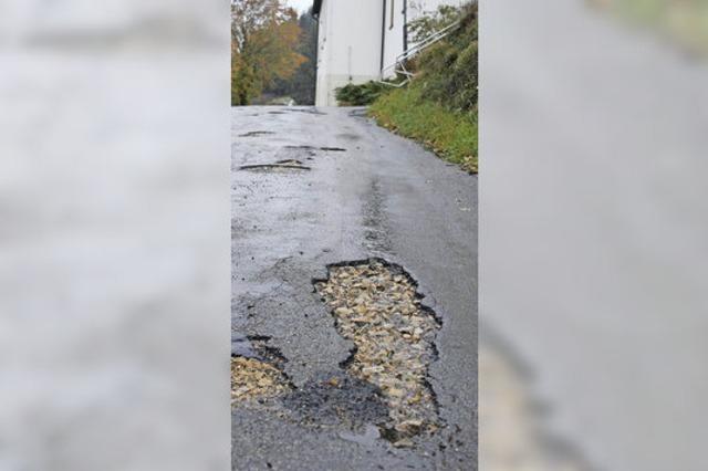 Schwerpunkt Straßensanierung