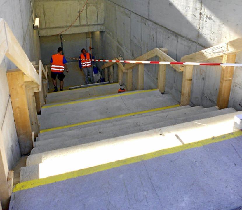 Unbefriedigend: die Treppe am Bahnhof Efringen-Kirchen     Foto: vl