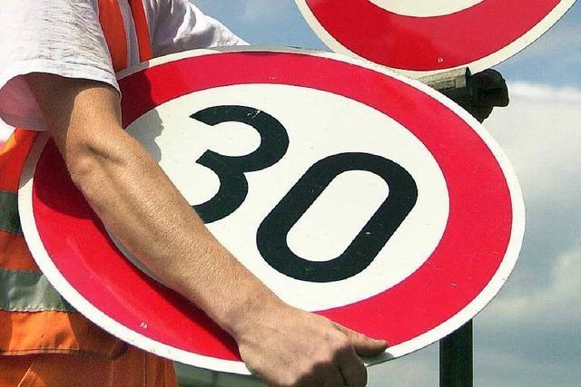 Auf der B 34 gilt künftig streckenweise Tempo 30