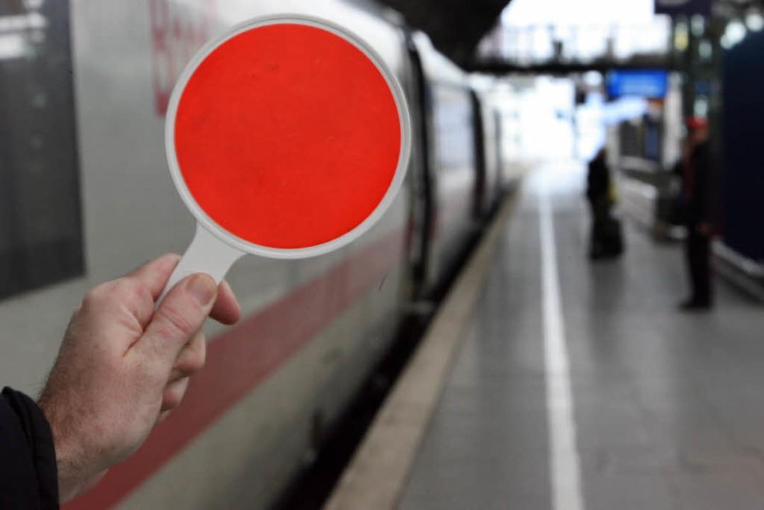 In diesen Zug hätten sie nicht einstei...emonstrieren und landeten in Mannheim.  | Foto: dpa