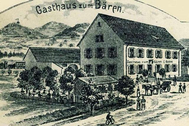 Bis in die 1940er Jahre gab es in Zähringen das Gasthaus