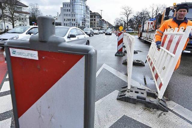 Kronenbrücke in Freiburg gesperrt