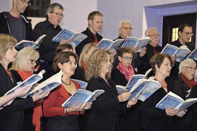 Der Chor VoicesInMotion in Weil am Rhein