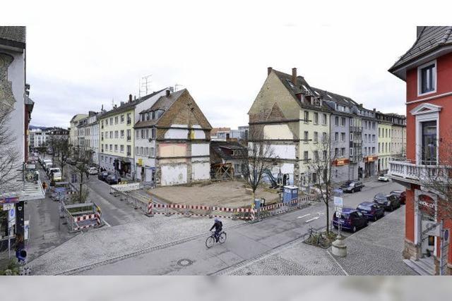 Abriss und Neubau - im Sedanviertel entsteht ein neues Eckhaus