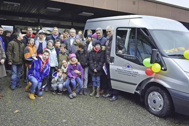 Spranger-Schule hat einen neuen Kleinbus