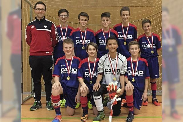 C-Junioren des FC Tiengen 08 gewinnen Wutöschinger Hallenturnier