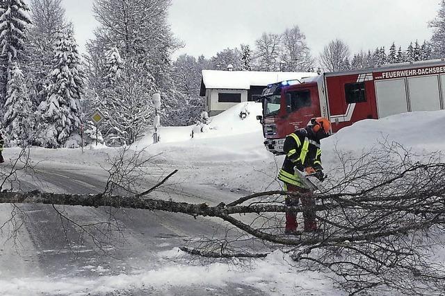 Winterwetter hält Feuerwehren der Region auf Trab
