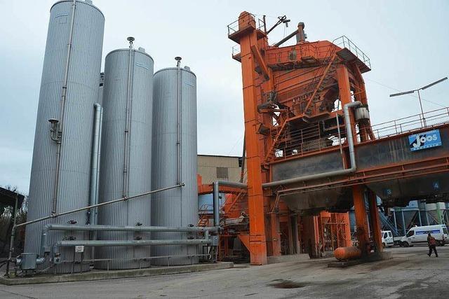 Firma Joos investiert vier Millionen Euro in Asphaltmischanlage in Oberrimsingen