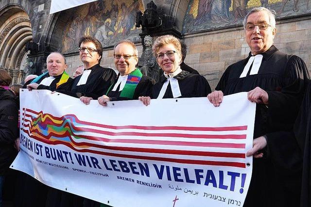 Pegida-Parolen von der Kanzel: Protest in Bremen
