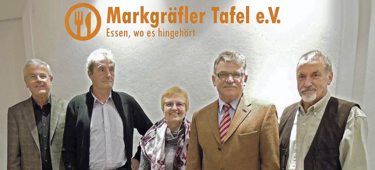 Der neue Vorstand der Markgräfler Tafe...org Weber, Manfred Klenk, Rainer Mucks  | Foto: Privat