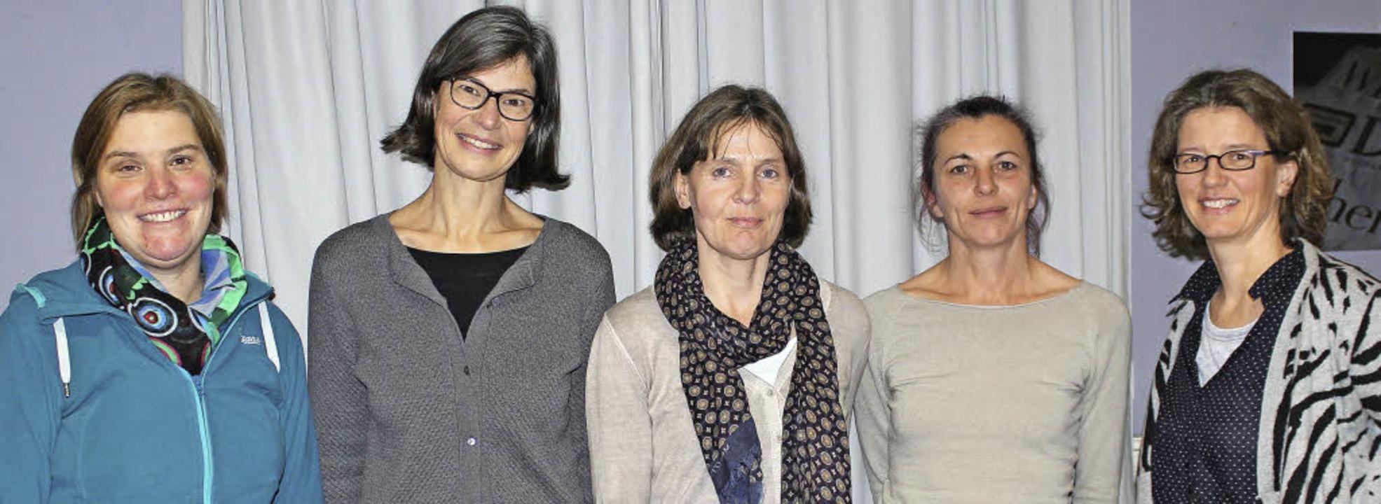 Der Vorstand des Kinder- und Jugendcho...sen, Heike Mages und  Andrea Heinrich     Foto: Antje Gessner
