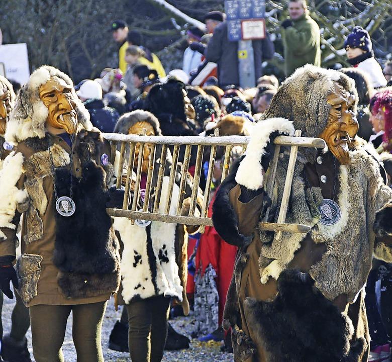 Die Fasnächtler der Vereinigung Hochrh...raßen. 2500 Hästräger werden erwartet   | Foto: Archivfoto: Ingrid Böhm-Jacob