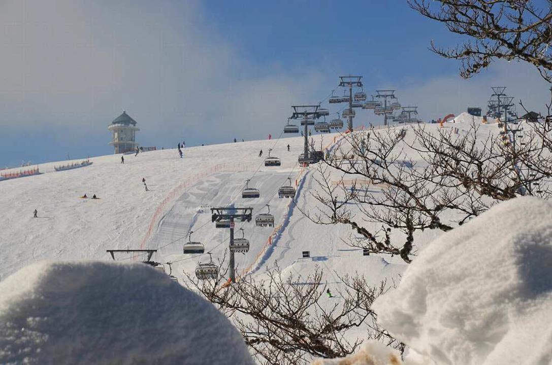 Das Skigebiet Feldberg landet auf Platz eins der deutchen Mittelgebirge.    Foto: Ralf MOrys