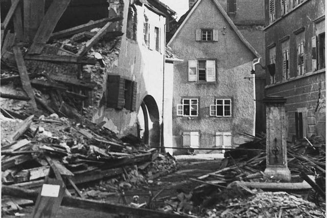 Erinnerungen an die Bombardierung Staufens
