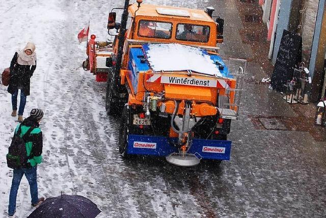 Gut gerüstet für einen langen Winter - noch 300 Tonnen Salz auf Lager