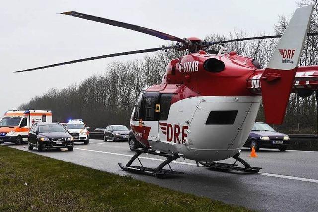 Unfall sorgt für Großeinsatz auf der A5 bei Freiburg