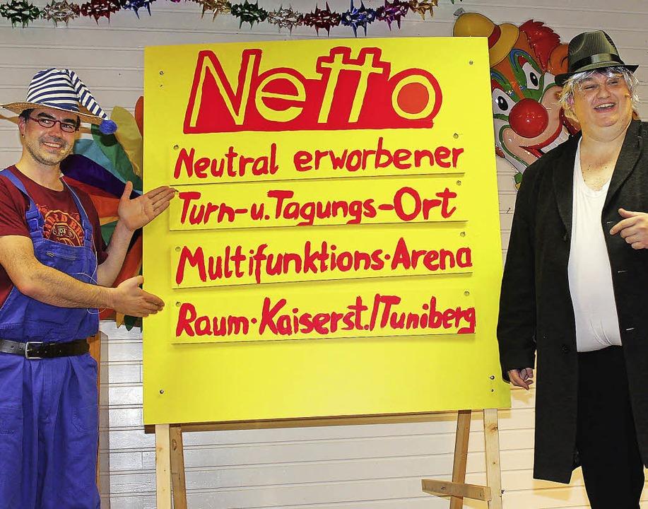Närrische Idee: Wird der Einkaufsmarkt bald zur Festhalle?    Foto: Mario Schöneberg