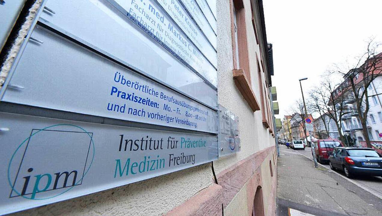 Das Institut für Präventive Medizin vo...t entsetzt über einen Fernsehbericht.   | Foto: Michael Bamberger