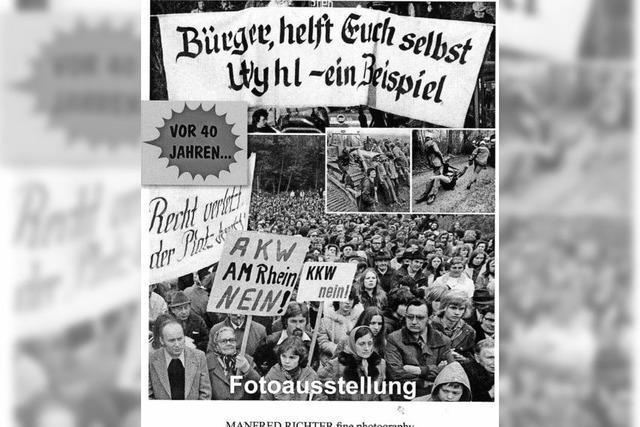 Fotos über den Widerstand gegen das AKW Wyhl im Emmendinger Rathaus