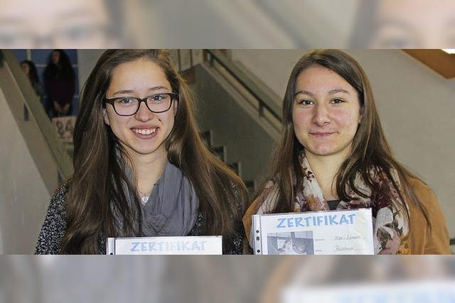 Schülermentorinnen für die Umwelt