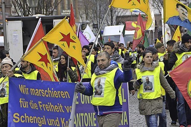 Kurden protestieren