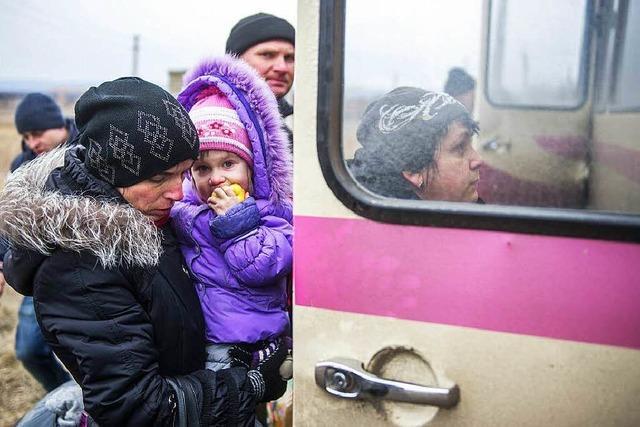 Flüchtlingsstrom aus der Ostukraine reißt nicht ab