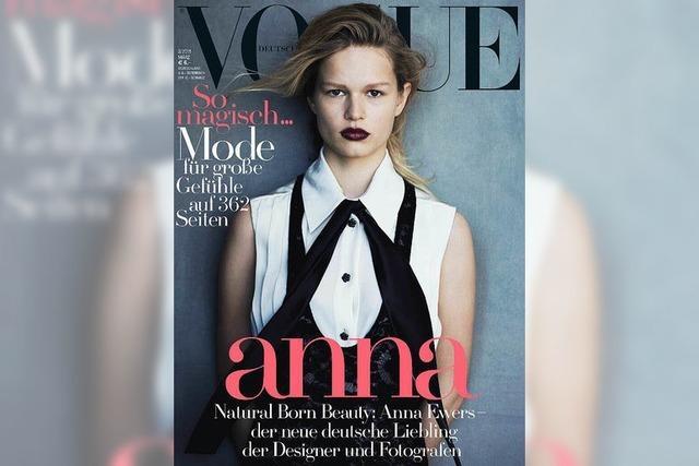 Die Freiburgerin Anna Ewers ist auf dem Cover der Vogue – gleich fünfmal