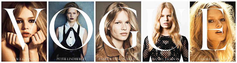 Die deutsche Vogue ehrt Anna Ewers mit gleich fünf verschiedenen Cover-Fotos.  | Foto: Vogue