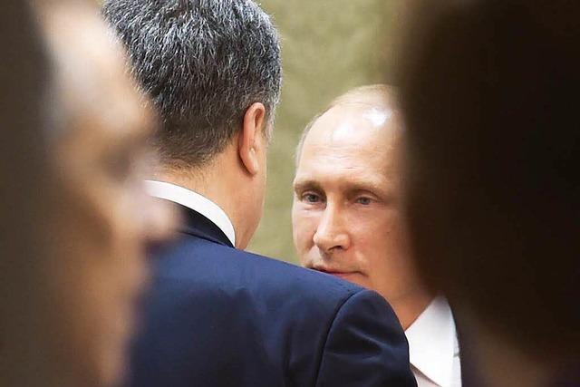 Kiew und Rebellen unterzeichnen Fahrplan für Frieden