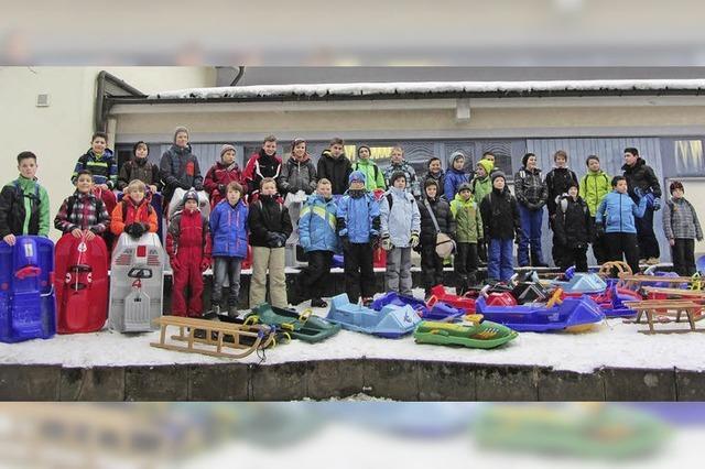 Schneespaß für Schüler