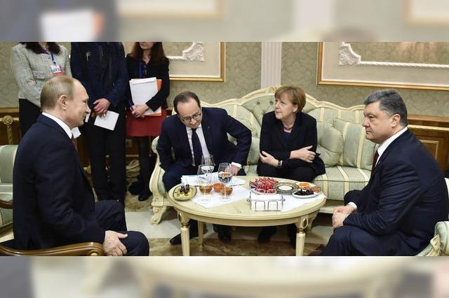 Um das Friedensabkommen Minsk II wurde lange gerungen