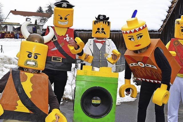 Legosteine werden närrisch