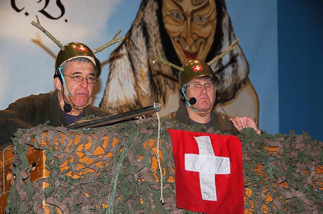 Schweizer Jäger in Weizen: Alarmstufe rot!  | Foto: Jutta Binner-Schwarz
